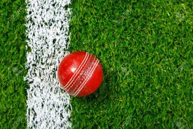 9639291-a-cricket-ball-on-a-grass-next-to-the-white-line-shot-from-above--Stock-Photo